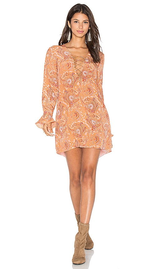MAJORELLE Roundup Dress in Peach