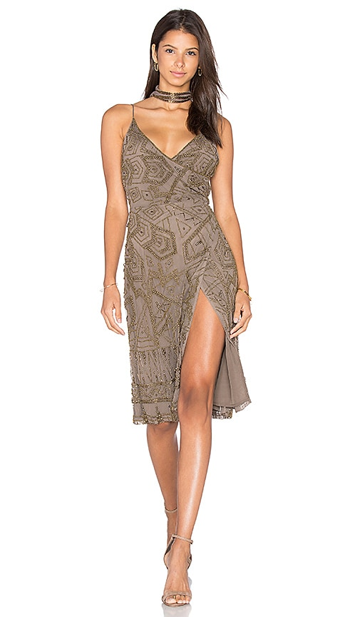 MAJORELLE Hollyhock Dress in Taupe