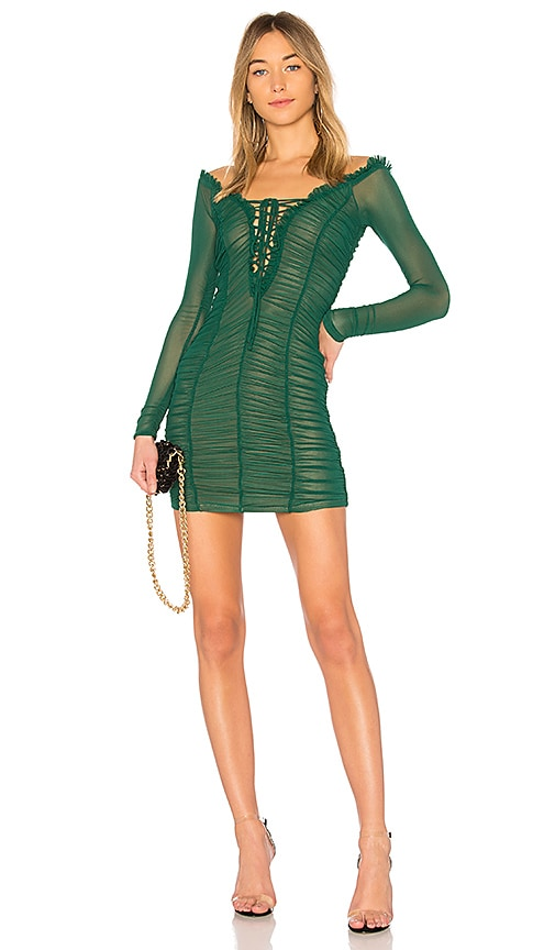 MAJORELLE Darling Dress in Green