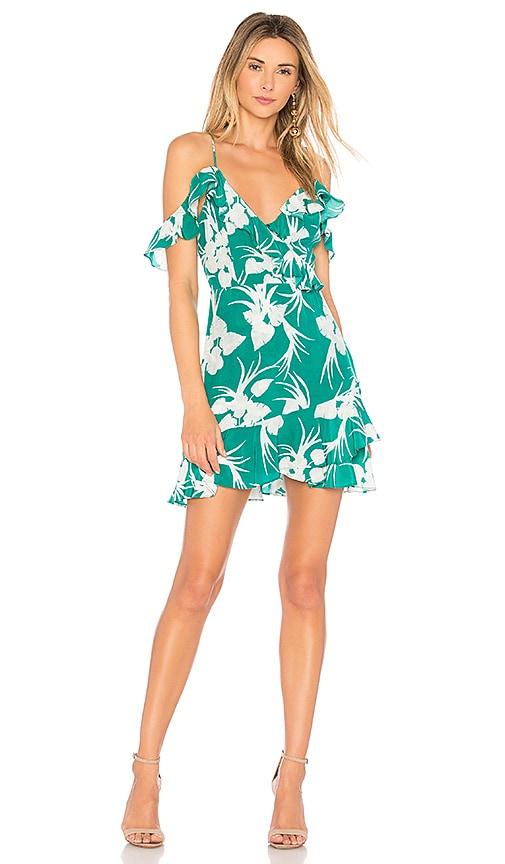MAJORELLE Salsa Dress in Green