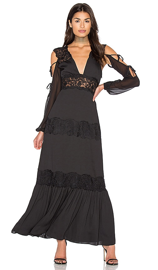 MAJORELLE Ronnie Dress in Black