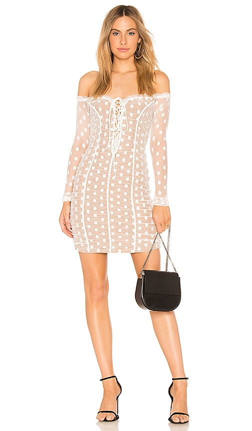 MAJORELLE Darling Dress in White