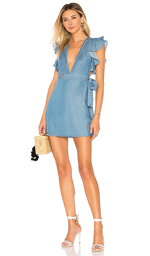 MAJORELLE Teddy Dress in Blue