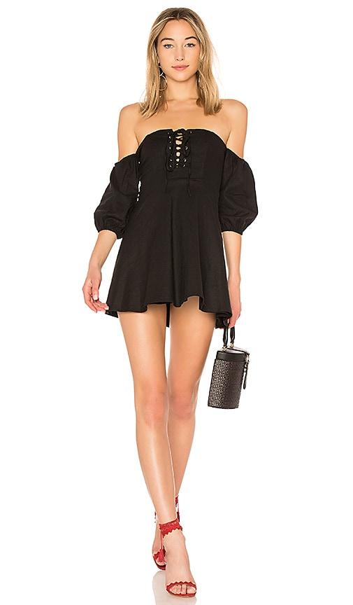 MAJORELLE Tucker Dress in Black