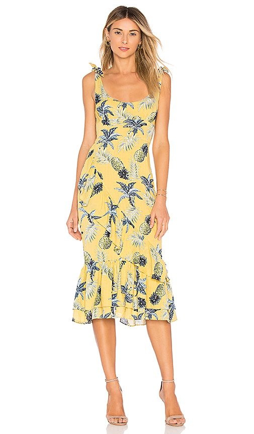 MAJORELLE Nikita Dress in Yellow