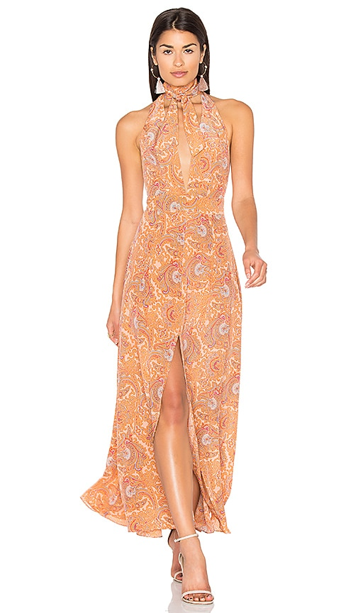 MAJORELLE Frontier Dress in Peach