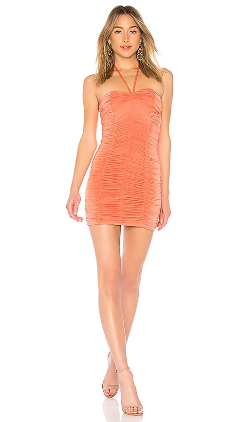MAJORELLE Clementine Dress in Coral