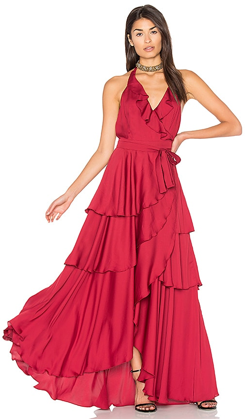 MAJORELLE Victoria Falls Dress in Red
