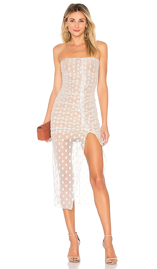MAJORELLE Brady Dress in White