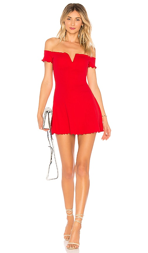 MAJORELLE Ophelia Dress in Red