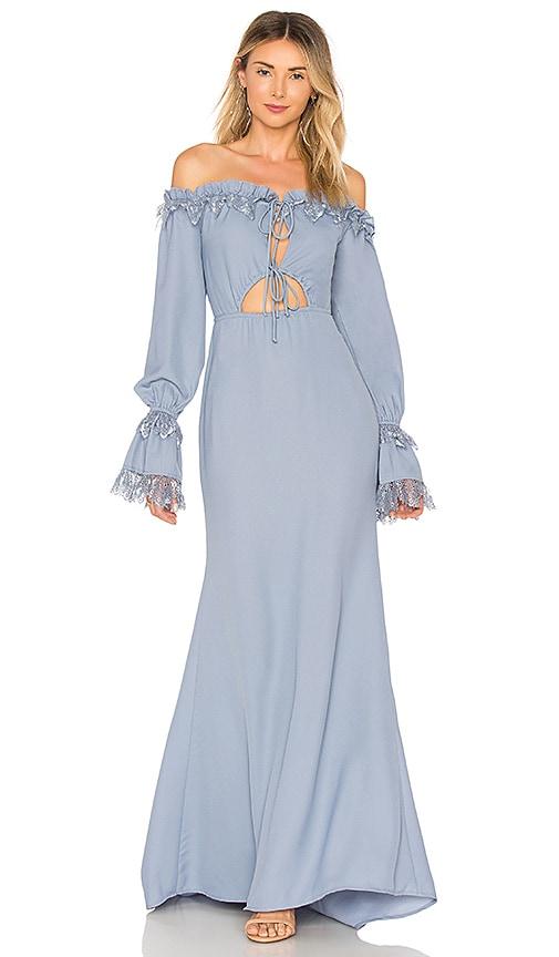 MAJORELLE Nicki Gown in Blue