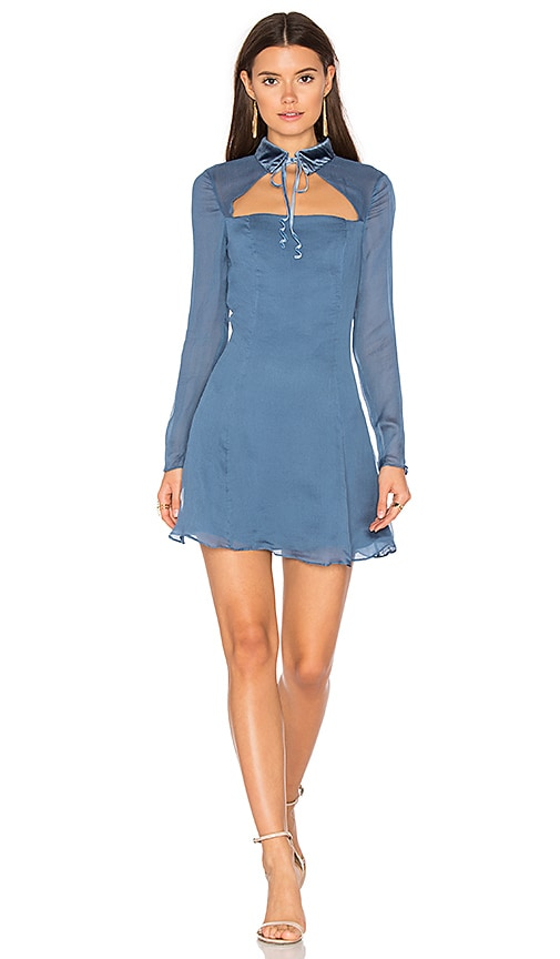 MAJORELLE Jamie Dress in Blue