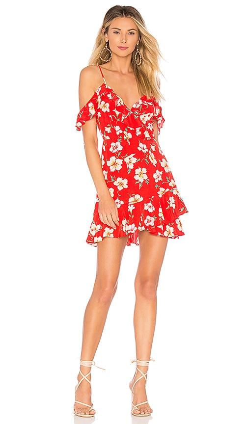 MAJORELLE Salsa Dress in Red