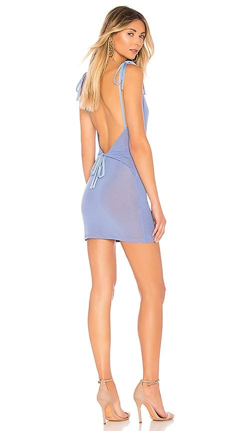 MAJORELLE Juliet Mini Dress in Blue