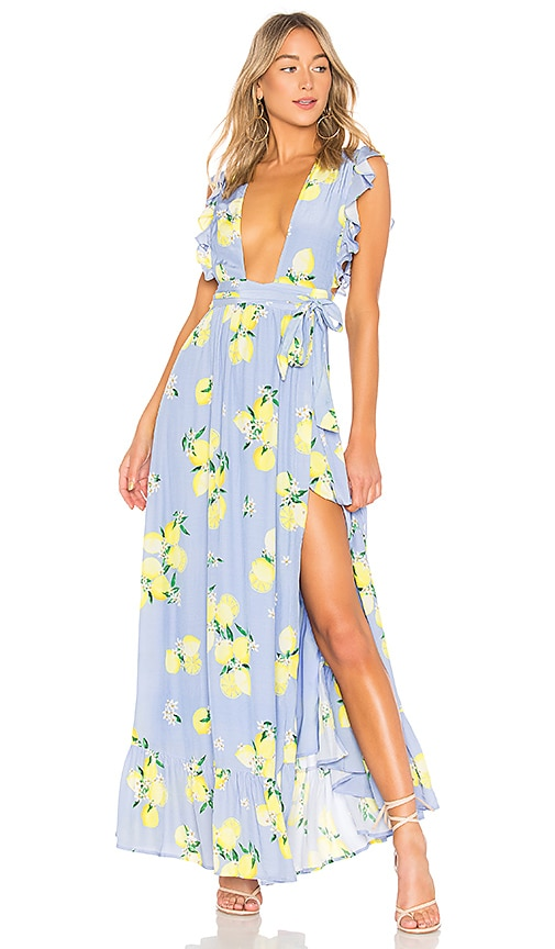 fbe629c1b0eef MAJORELLE Sweet Pea Dress in Blue Lemon