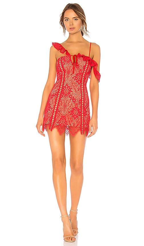 b7ab52c79b MAJORELLE Marjorie Mini Dress in Scarlet Red | REVOLVE