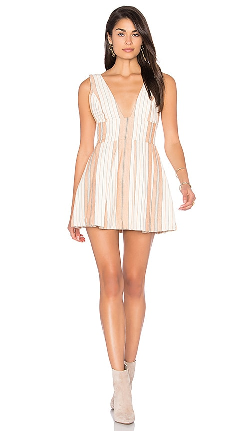 MAJORELLE Agave Dress in Peach