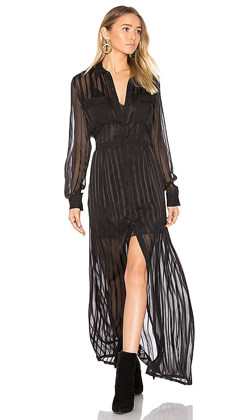 MAJORELLE Toute la Nuit Dress in Black