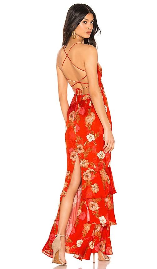 MAJORELLE Marissa Maxi Dress in Red Candy Apple | REVOLVE