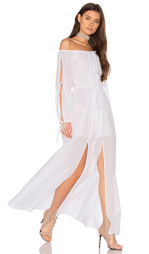 MAJORELLE Santa Clara Maxi Dress in White