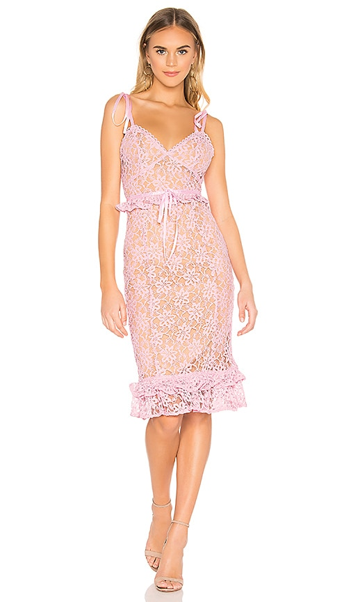 253f0c32e4 MAJORELLE Ellington Midi Dress in Candy Pink | REVOLVE