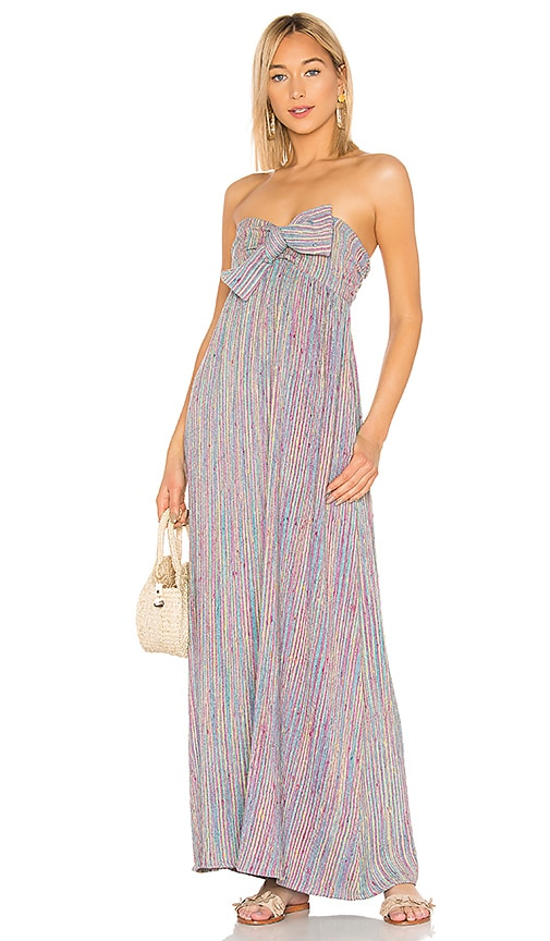 3162b323cf38 MAJORELLE Vienna Maxi Dress in Rainbow Stripe