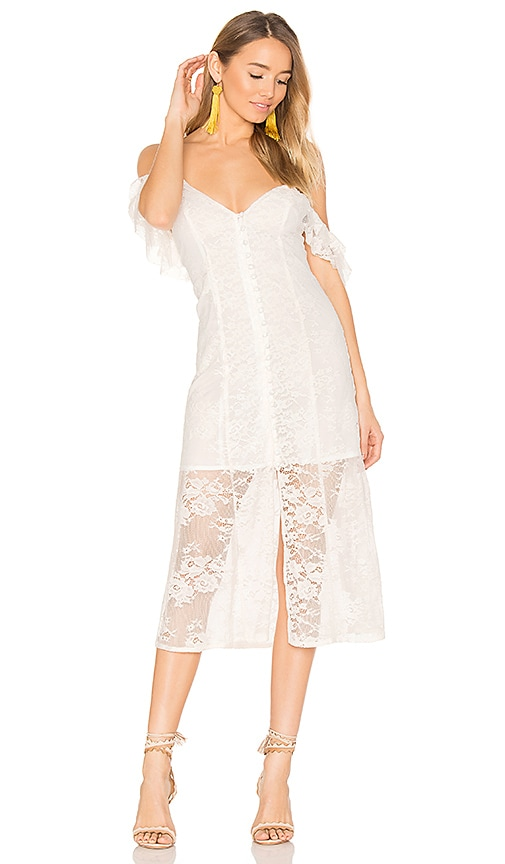 Majorelle MAJORELLE White Oak Dress in White.