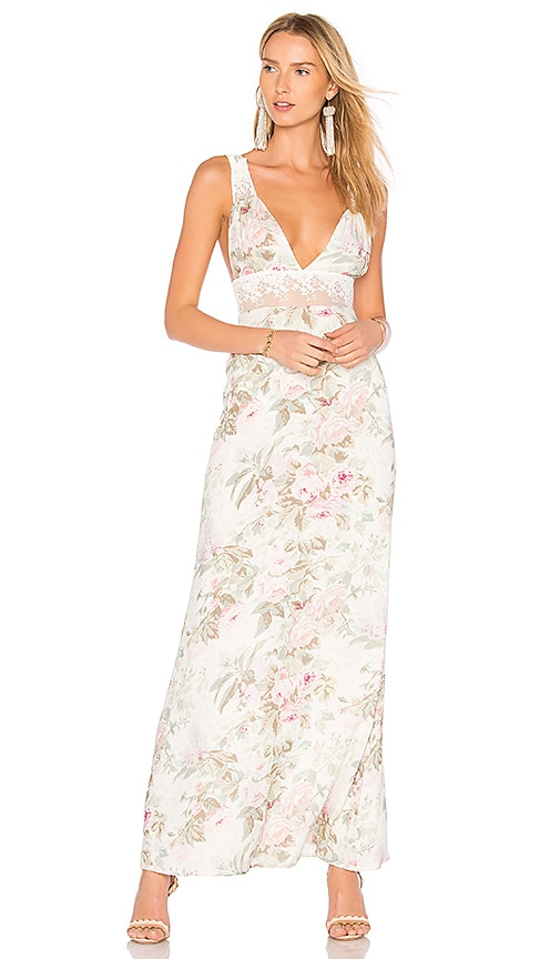 MAJORELLE MAGGIE Maxi Dress in White