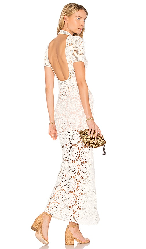 MAJORELLE Therese Dress in Ivory
