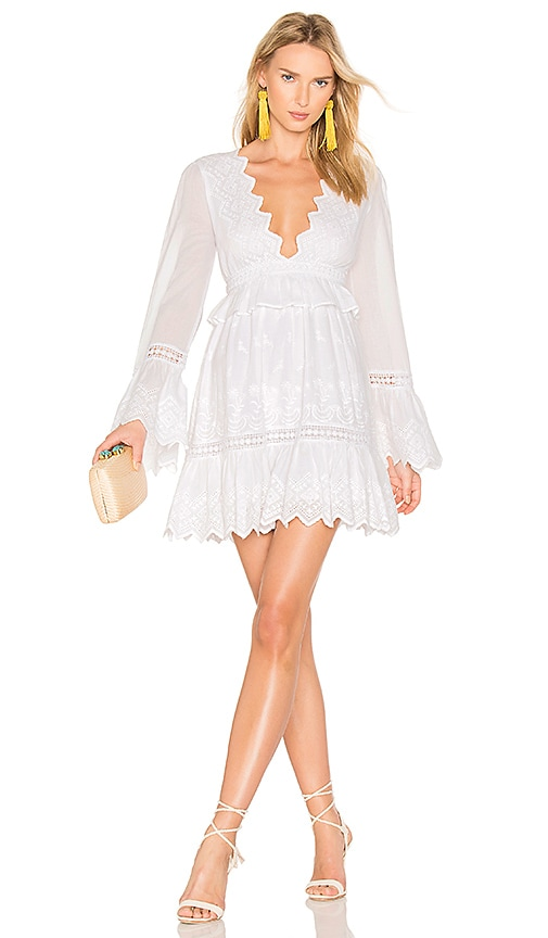 MAJORELLE Western Ridge Dress in White