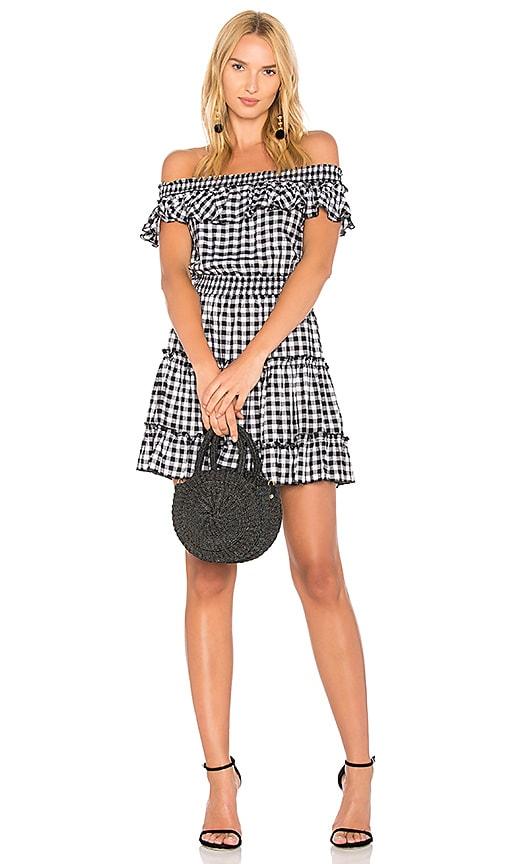 MAJORELLE x REVOLVE Georgia Dress in Black & White
