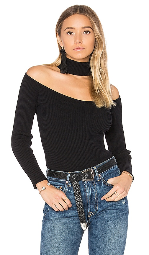 MAJORELLE Skyfall Sweater in Black