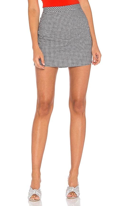 MAJORELLE Josie Skirt in Black & White