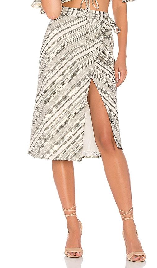 MAJORELLE X REVOLVE Crystalline Skirt in Cream