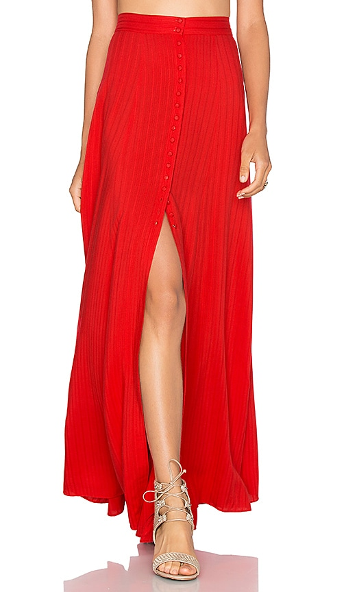 MAJORELLE Sangria Maxi Skirt in Red