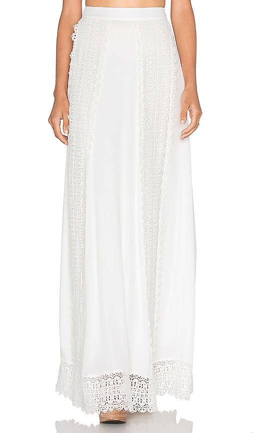 MAJORELLE Sante Fe Maxi Skirt in Ivory