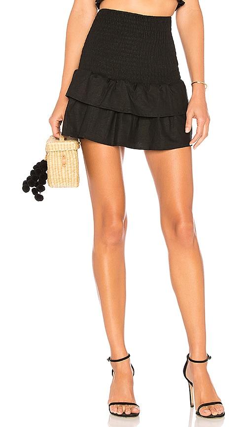 MAJORELLE Peaches Skirt in Black