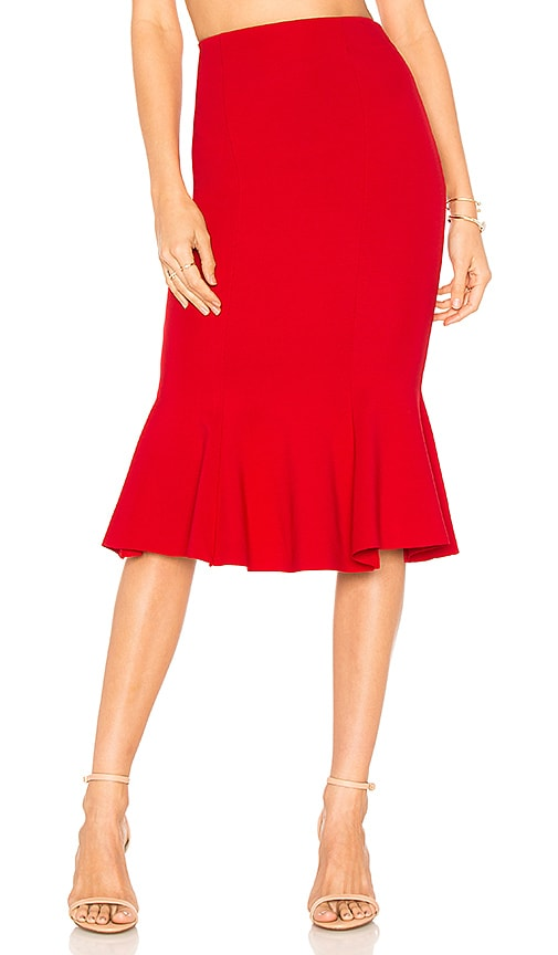 MAJORELLE Roksana Skirt in Red