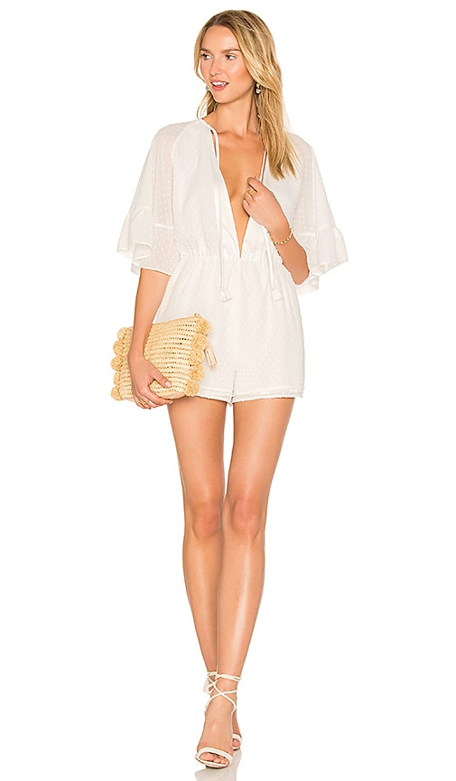 MAJORELLE Courtney Romper in White