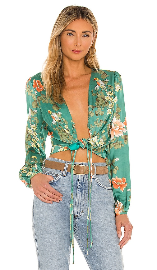MAJORELLE Coco Top in Green