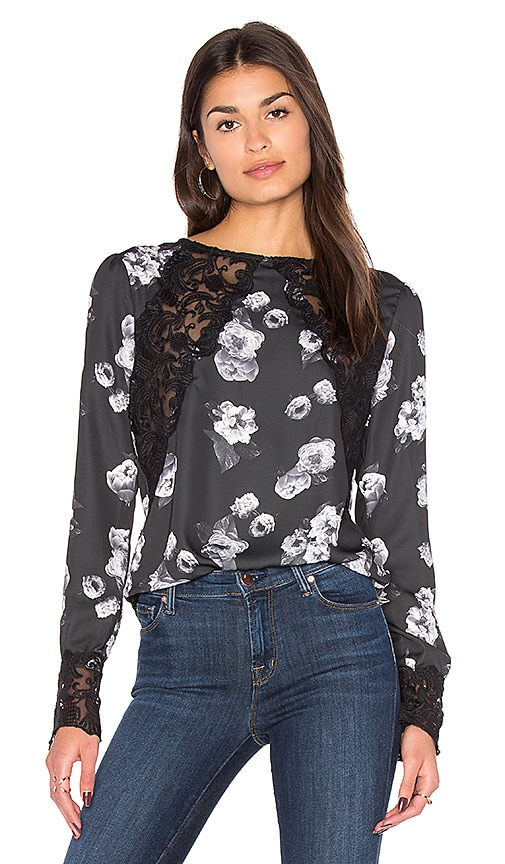 MAJORELLE Kimberly Top in Black