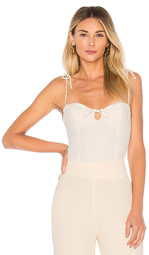 MAJORELLE Rosemary Tank in White