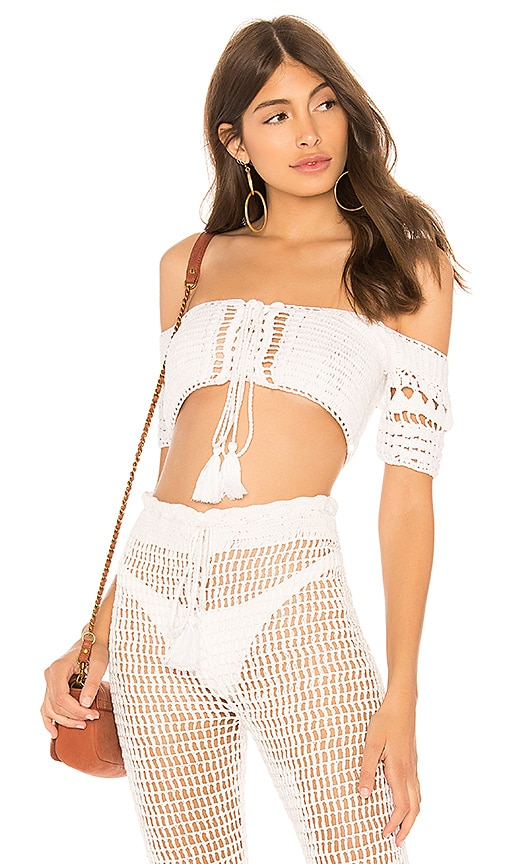 TOP CROPPED MAILLE CROCHET HILARY