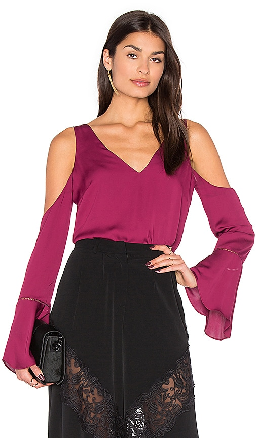 MAJORELLE Natalia Top in Wine