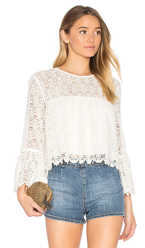 MAJORELLE Creek Top in Ivory