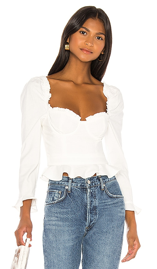 Corie Top In White