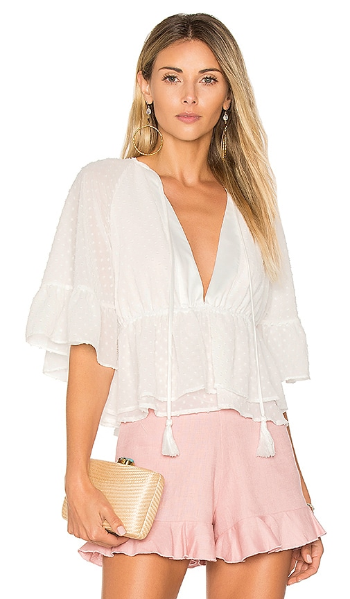 MAJORELLE Hibiscus Top in Ivory