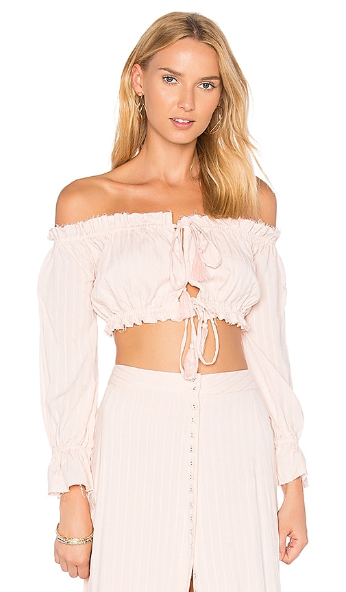 MAJORELLE Sangria Top in Blush