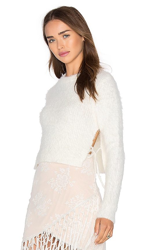 MAJORELLE Daisy Crop Top in Ivory