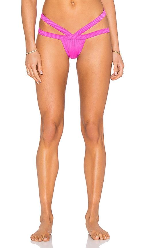 MINIMALE ANIMALE The Bandit Bikini Bottom in Fuchsia